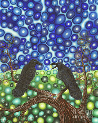 Painting - Raven's Tale by Rebecca Parker