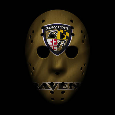Baltimore Ravens Wall Art - Photograph - Ravens War Mask 2 by Joe Hamilton