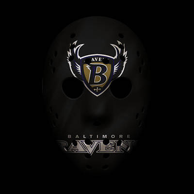 Baltimore Ravens Wall Art - Photograph - Ravens War Mask 3 by Joe Hamilton
