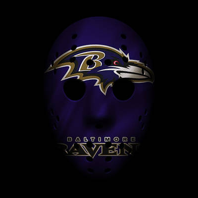 Baltimore Ravens Wall Art - Photograph - Ravens War Mask by Joe Hamilton