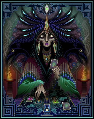 Tarot Wall Art - Digital Art - Raven's Warning by Cristina McAllister