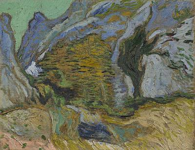 Painting - Ravine With A Small Stream Saint Remyde Provence  October 1889 Vincent Van Gogh 1853  1890 by Artistic Panda