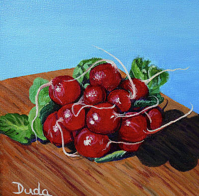 Painting - Ravishing Radishes by Susan Duda