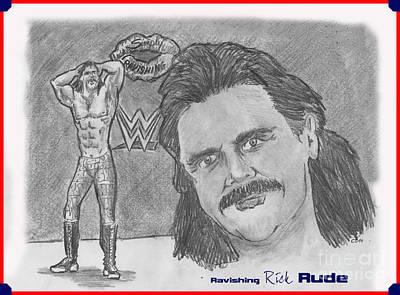 Drawing - Ravishing Rick Rude by Chris  DelVecchio