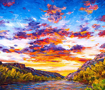 Painting - Ravishing River by Steven Boone