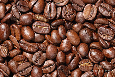 Raw Coffee Beans Background Art Print