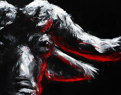Cape Buffalo Painting - Raw by Danielle Trudeau