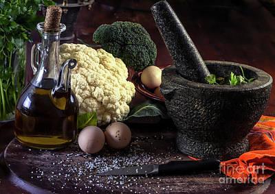 Photograph - Raw Fresh Vegetables by Eleni Mac Synodinos