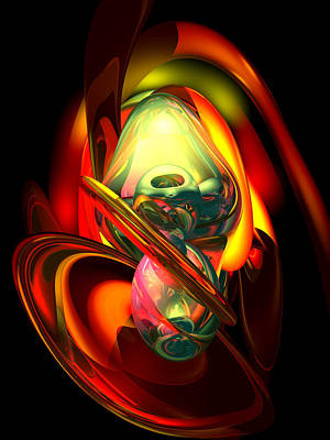Fury Digital Art - Raw Fury Abstract by Alexander Butler