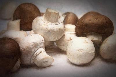 Photograph - Raw Mushrooms by Tom Mc Nemar
