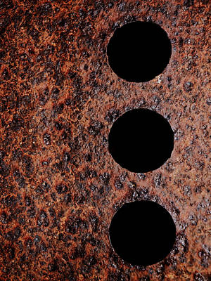 Realism Photograph - Raw Steel...oxidation...vertical by Tom Druin