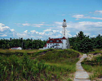 Photograph - Rawley Point Lighthouse by Anthony Dezenzio