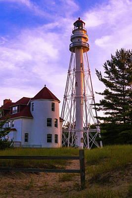 Rawley Point Lighthouse Art Print by Chuck De La Rosa