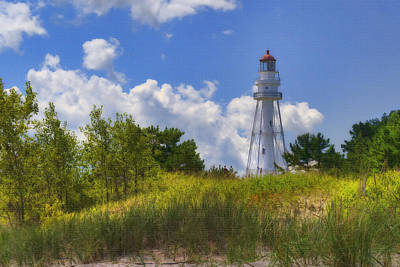 Rawley Point Lighthouse Original by Joan Carroll