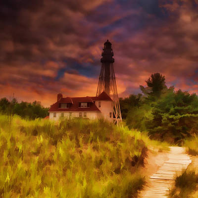 Photograph - Rawley Point Lighthouse by Joel Witmeyer