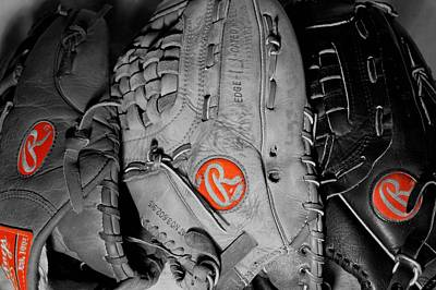 Baseball Mitt Photograph - Rawlings In Red by Jame Hayes