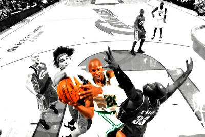 Ray Allen Art Print by Brian Reaves