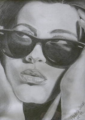 Drawing - Ray Ban Chick by Carla Bank