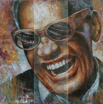 Wall Art - Painting - Ray Charles by Arthur Braginsky