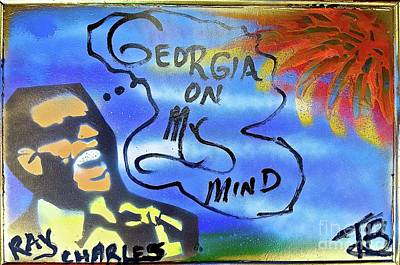 Liberal Painting - Ray Charles Georgia On My Mind by Tony B Conscious