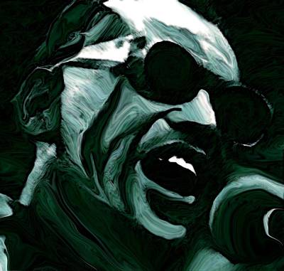 Blue Painting - Ray Charles by Jeff DOttavio
