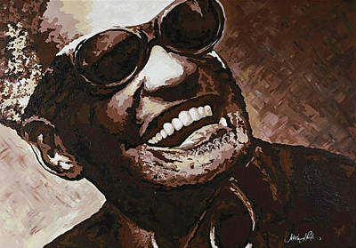 Painting - Ray Charles by Jeleata Nicole