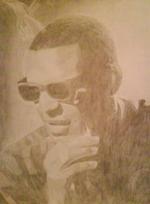 Drawing - Ray Charles by Milton  Gore