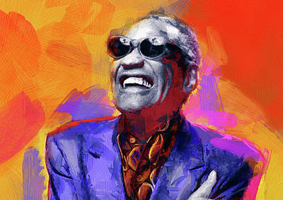 Rhythm And Blues Digital Art - Ray Charles by Mortimer Twang