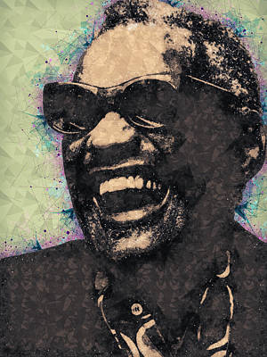 Portraits Mixed Media - Ray Charles Portrait by Studio Grafiikka