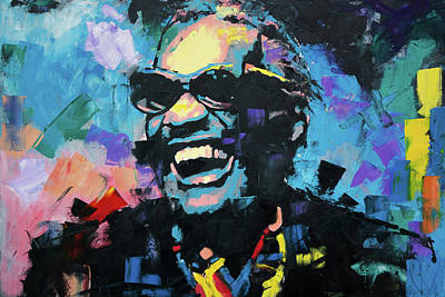 Express Painting - Ray Charles by Richard Day