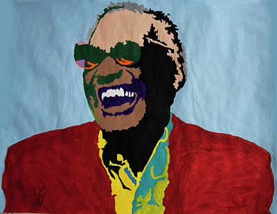 Negro Painting - Ray Charles by Stormm Bradshaw