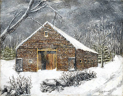 Painting - Ray Emerson's Old Barn by Jack Skinner