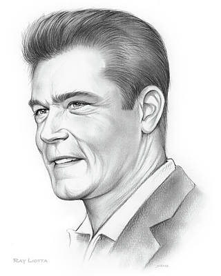Drawings Royalty Free Images - Ray Liotta Royalty-Free Image by Greg Joens