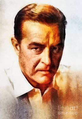 Rays Painting - Ray Milland, Vintage Hollywood Legend by John Springfield