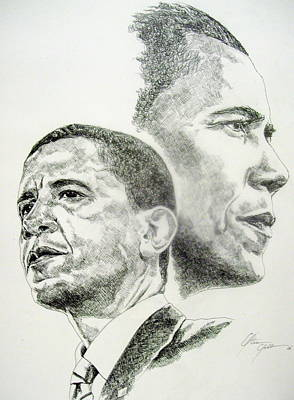 Obama Drawing - Ray Of Hope by Otis  Cobb