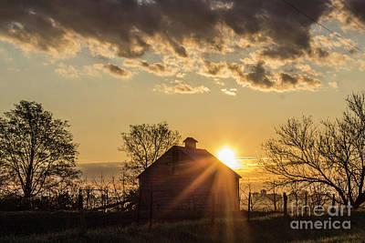 Illinois Farm Land Photograph - Ray Of Light by Doug Daniels