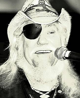 Dr. Hook And The Medicine Show Photograph - Ray Sawyer Dr Hook by John Malone