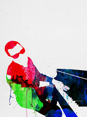 Pianist Painting - Ray Watercolor by Naxart Studio