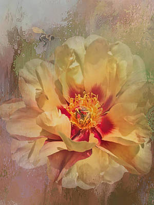 Digital Art - Rayanne's Peony by Jeff Burgess