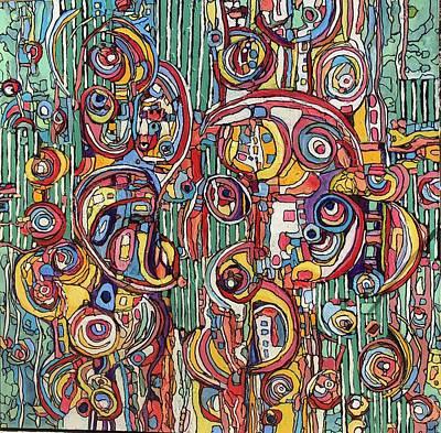 Painting - Rayas #7 by Jeffrey Davies