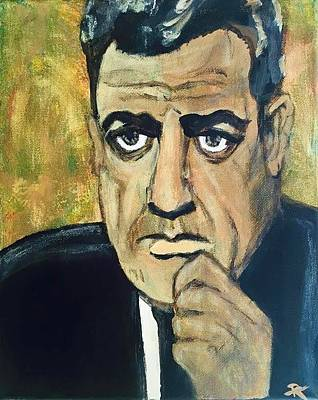 Crime Drama Movie Painting - Raymond Burr As Perry Mason by Rachel  Trapp