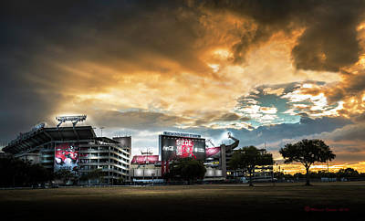 Action Lines Photograph - Raymond James Stadium by Marvin Spates