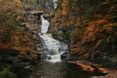 Photograph - Raymondskill Falls - Milford P A by Allen Beatty