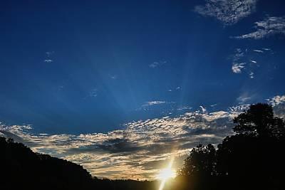 Photograph - Rays  At Sundown by Kathryn Meyer