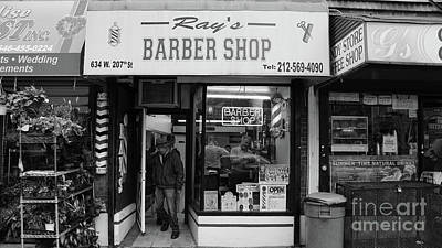 Ray's Barbershop Art Print
