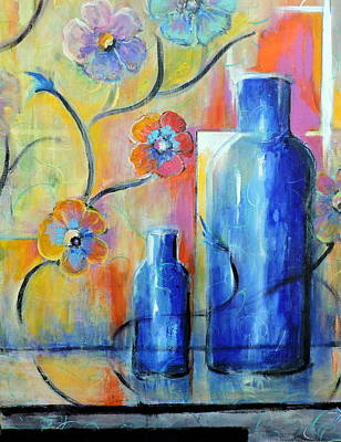 Painting - Ray's Blue by Jodie Marie Anne Richardson Traugott          aka jm-ART