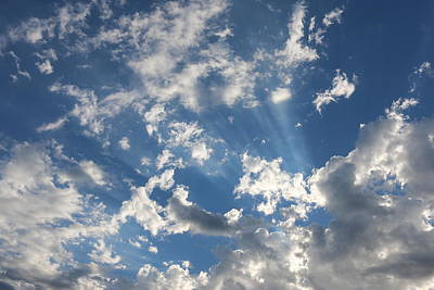 Photograph - Rays In The Clouds - 2  by Christy Pooschke
