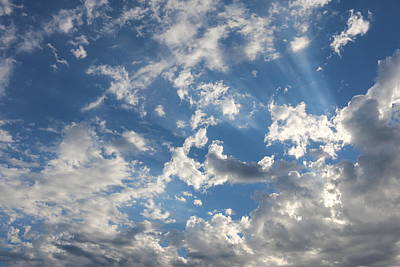Photograph - Rays In The Clouds  by Christy Pooschke