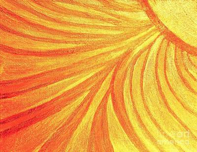 Painting - Rays Of Healing Light by Rachel Hannah