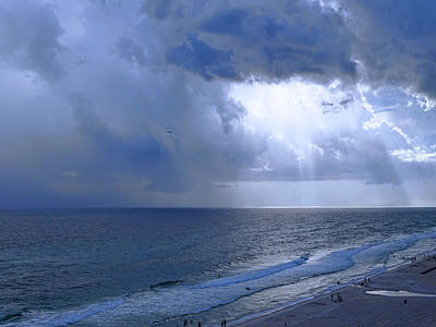 Panama City Beach Photograph - Rays Of Hope by Theresa Campbell